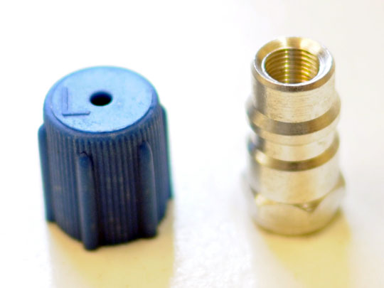 R134 to R12 aircon hose low port adaptor